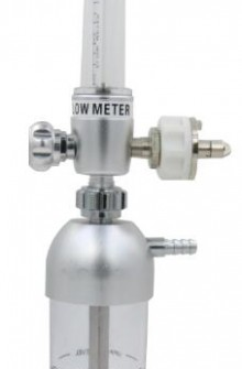 Aluminium oxygen flowmeter with aluminium humidifier bottle