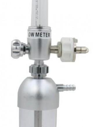 Aluminium oxygen flowmeter with aluminium humidifier bottle