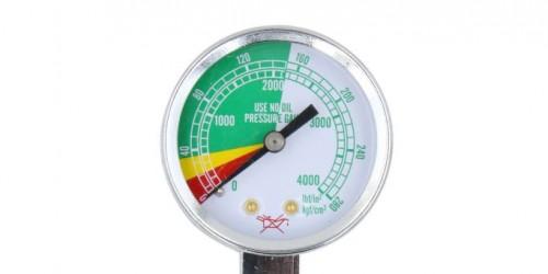 Gauge for oxygen inhalator