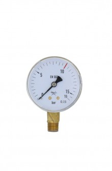Industrial gauge for oxygen regulator high pressure