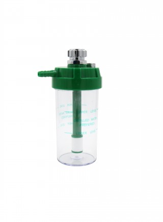 Medical oxygen regulator humidifier bottle