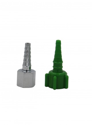 Plastic brass green Christmas tree connector